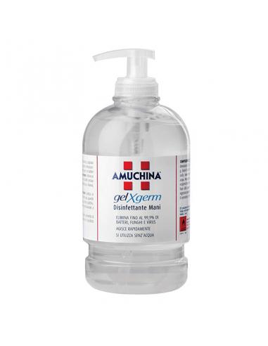 Gel disinfettante mani - Amuchina Gel X-Germ flacone da 500 ml con dosatore alcool 74%